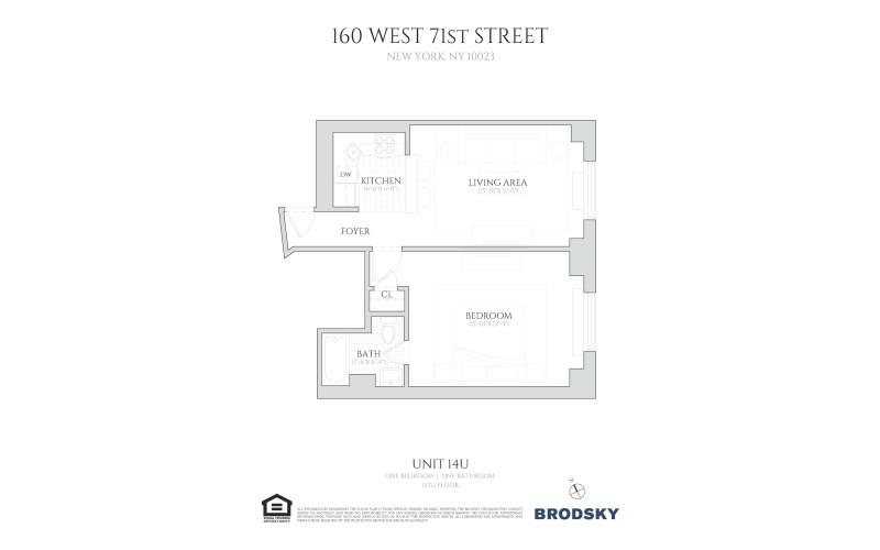 160 West 71st Street - 14U/1bed/160 14