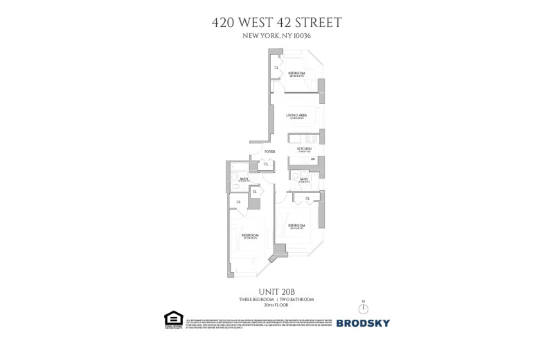420 West 42nd Street - B 20 - 3 BED / 2 BATH