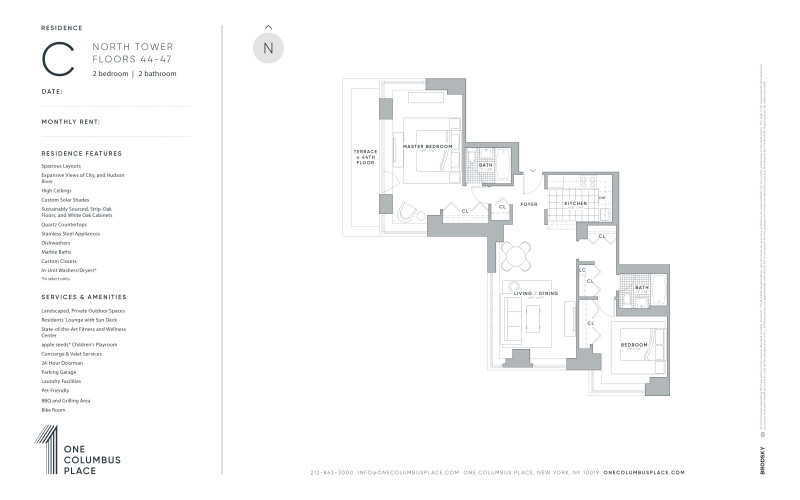 One Columbus Place - C - New Renovation (North Tower) 44-47