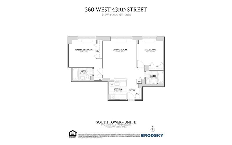 360 West 43rd Street - E New Floor Plan 11-PH
