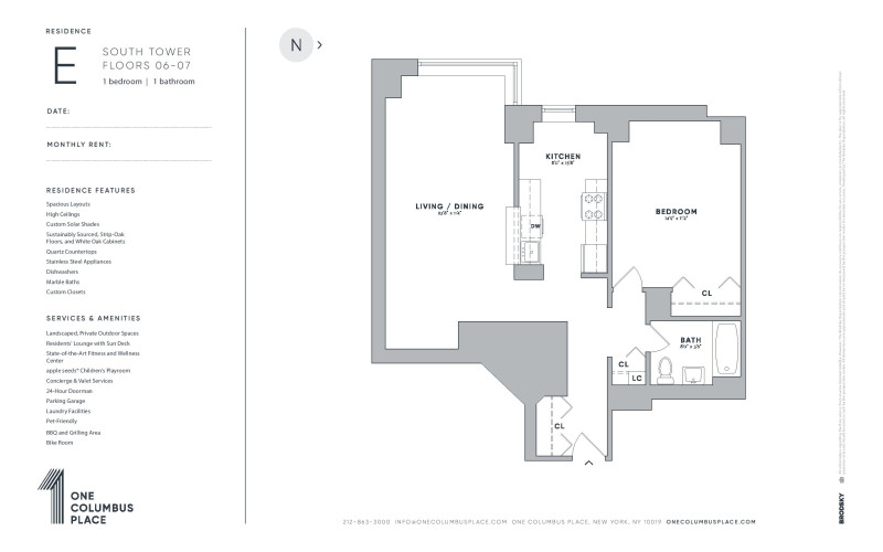 One Columbus Place - E- New Renovation (South Towers) 6-7