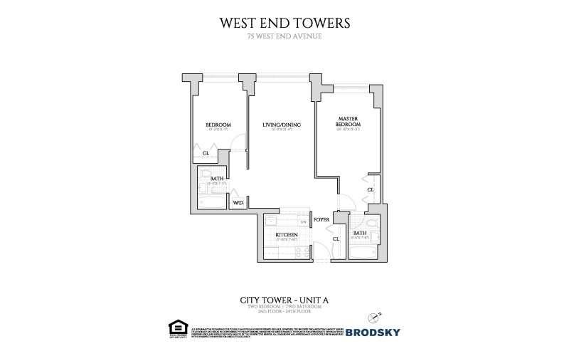 West End Towers - City A- New Renovation W/D 2-6