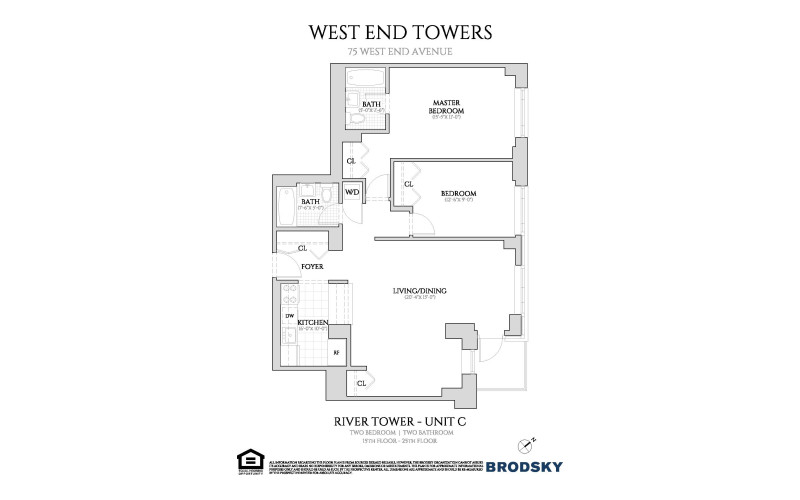 West End Towers - River C - New Renovation with W/D 16-25