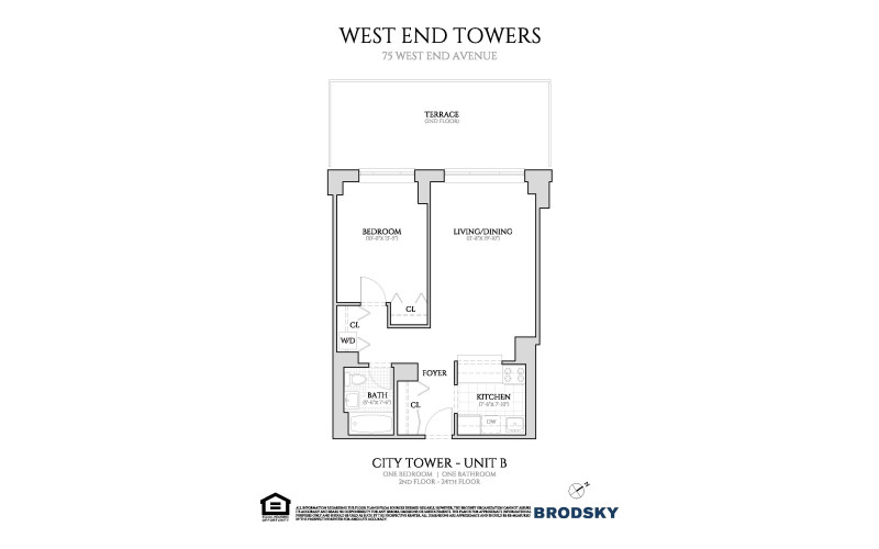 West End Towers - City Tower B (With W/D)  7-14