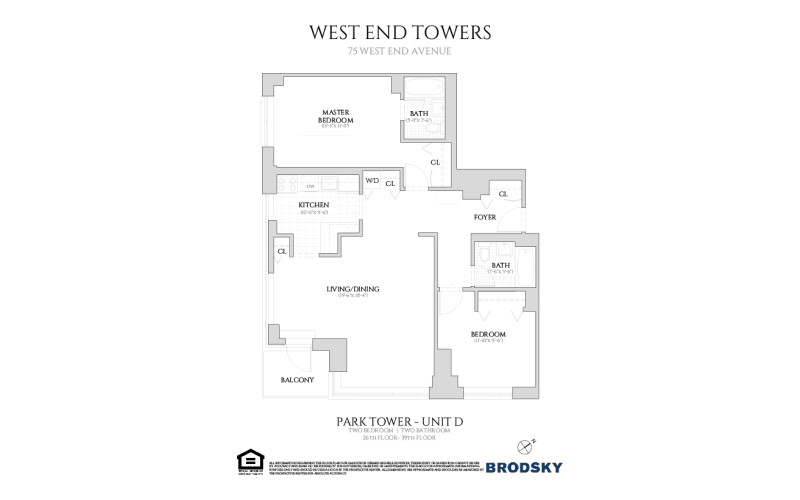West End Towers - Park D, Renovated W/D 26-39