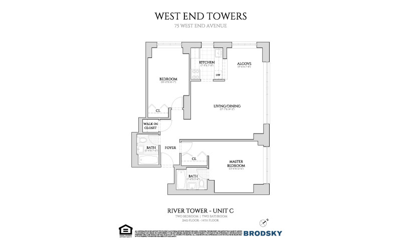 West End Towers - River 2-14 C