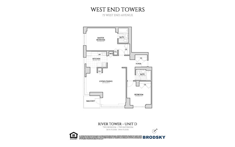 West End Towers - River Tower D (W/d) 26-39
