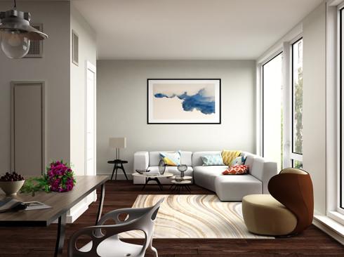 Enclave - Unit 326 Rendering Living room