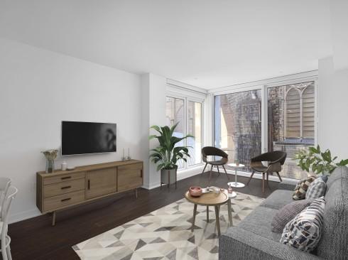 Enclave -  Unit 916 Model Living room 1